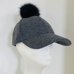 MISS SHOP wool cap with pompom